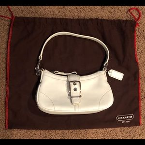 Mini Coach Purse (white) - Excellent Condition!